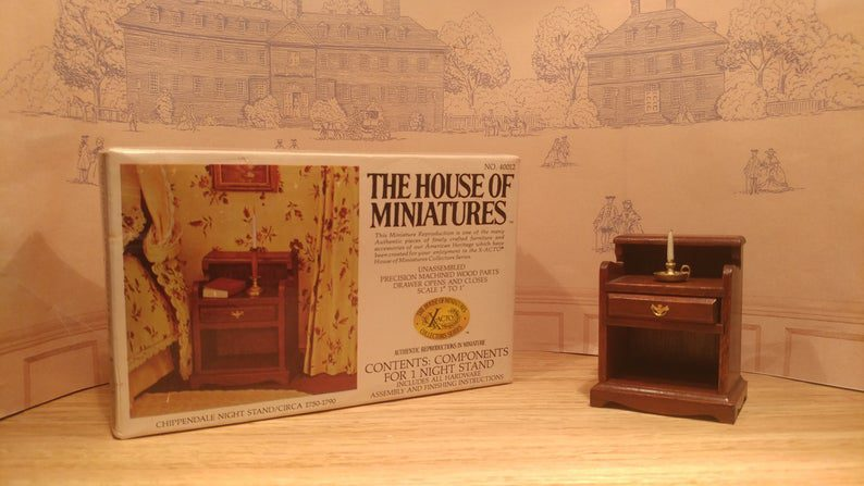 The Chippendale nightstand the house of miniatures
