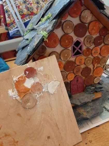 Fairy house wood added 2