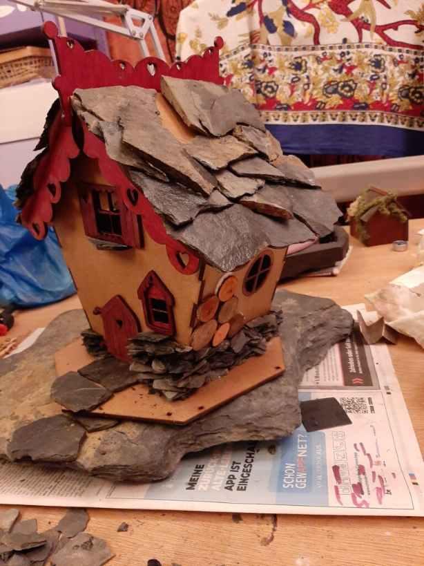 Fairy house wood added
