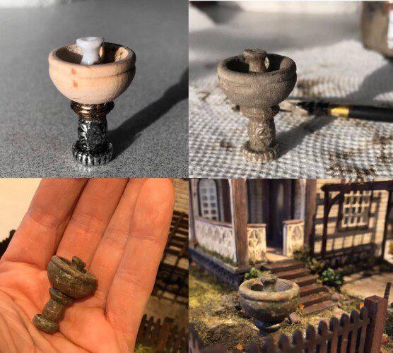 miniature garden fontain