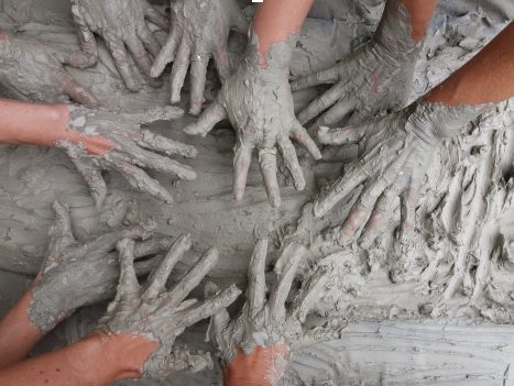clay for crafting hands