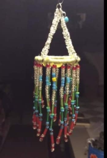 make miniature lights with curtain ring