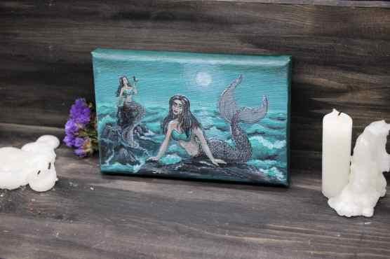mermaid painting miniature