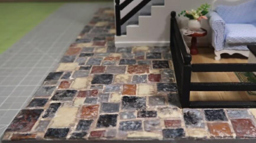 miniature dollhouse flooring