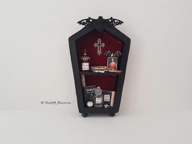 vampire coffin bookcase