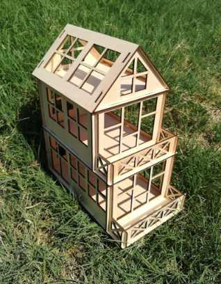 wooden dollhouse kit 9